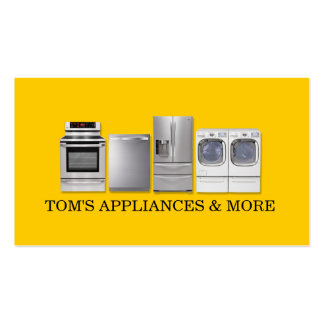 Appliances Sales Installation Repair Business Card Templates