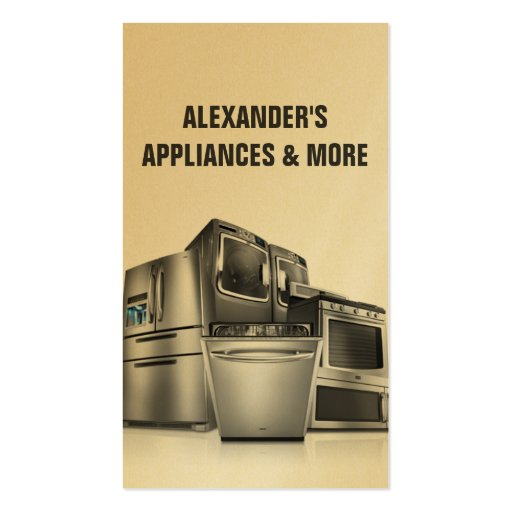 95 appliance repair business cards and appliance repair