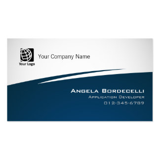 Application Developer Business Card Simple Zig Zag