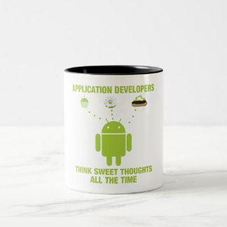 Application Developers Think Sweet Thoughts All Two-Tone Coffee Mug