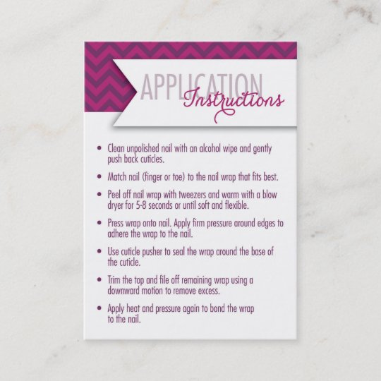 Application Instructions7 Day Challenge Cards Zazzle