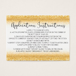 Application Instructions Card