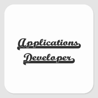 Applications Developer Classic Job Design Square Sticker