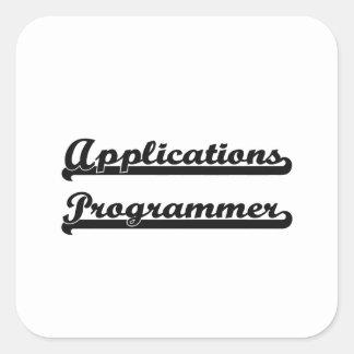 Applications Programmer Artistic Job Design Square Sticker