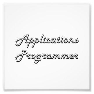 Applications Programmer Classic Job Design Photo Print