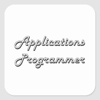 Applications Programmer Classic Job Design Square Sticker