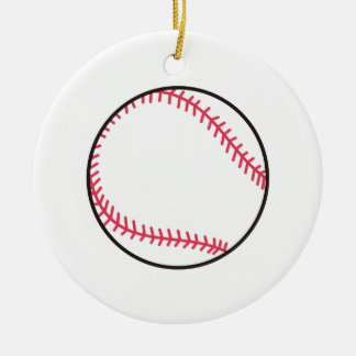 Applique Baseball Ceramic Ornament