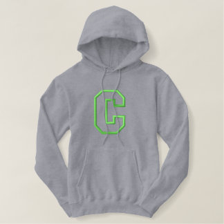 Applique C without Banner Embroidered Hoodie