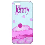 Applique Cupcake iPhone Case - Mauve and Pink Cover For iPhone 5C