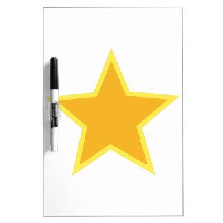 Applique de la estrella pizarra blanca