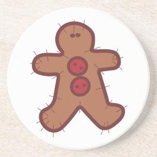 Applique Gingerbread Beverage Coasters
