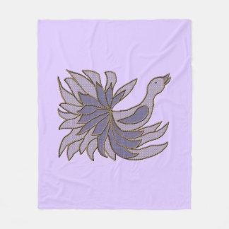 Applique Like Fancy Bird Fleece Blanket