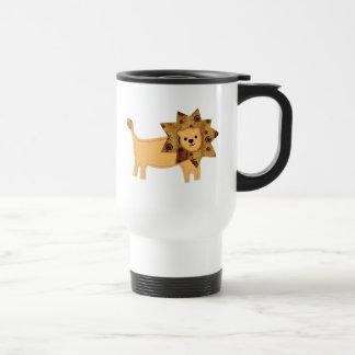 Applique Lion Travel Mug