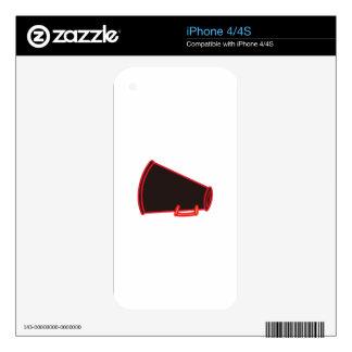 Applique Megaphone iPhone 4S Skin