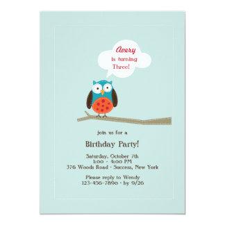 Applique Owl Invitation