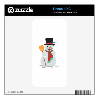 Applique Snowman Decal For The iPhone 4S