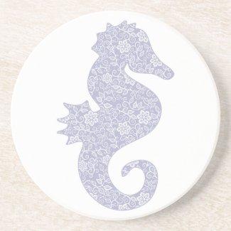 Applique Style Seahorse Drink Coaster