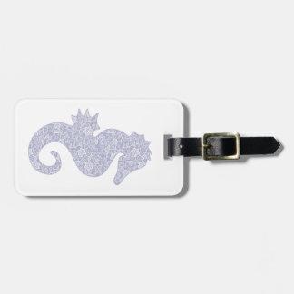 Applique Style Seahorse Luggage Tag