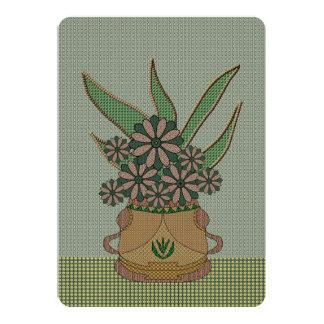 """Applique verde Tela-Como las flores Invitación 5"""" X 7"""""""