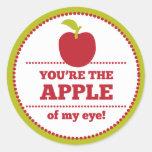 Apply of My Eye Fruit Valentine Classic Round Sticker