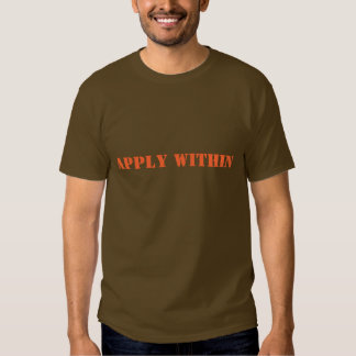 APPLY WITHIN SHIRT
