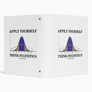 Apply Yourself Think Statistics (Bell Curve Humor) 3 Ring Binder