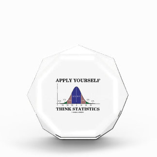 Apply Yourself Think Statistics (Bell Curve Humor) Award