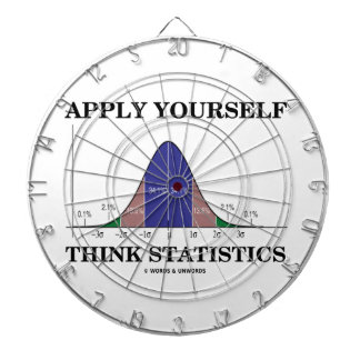 Apply Yourself Think Statistics (Bell Curve Humor) Dart Board