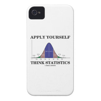 Apply Yourself Think Statistics (Bell Curve Humor) iPhone 4 Cover