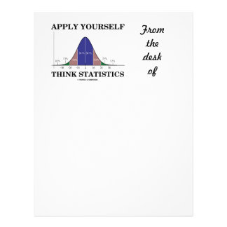 Apply Yourself Think Statistics (Bell Curve Humor) Letterhead