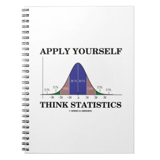 Apply Yourself Think Statistics (Bell Curve Humor) Notebook