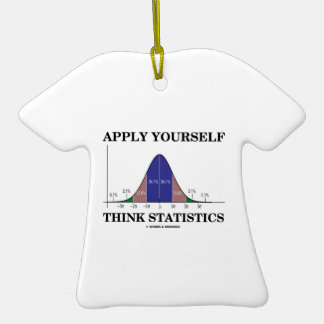 Apply Yourself Think Statistics (Bell Curve Humor) Christmas Ornament