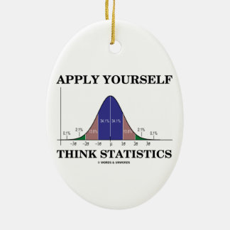 Apply Yourself Think Statistics (Bell Curve Humor) Ornament