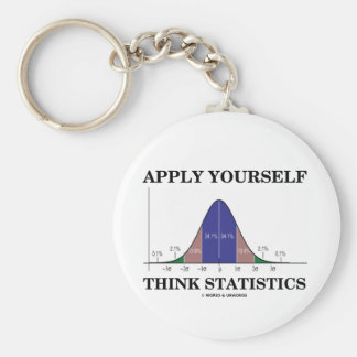 Apply Yourself Think Statistics (Bell Curve) Key Chains