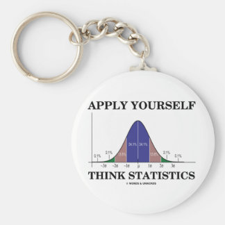 Apply Yourself Think Statistics (Bell Curve) Keychain