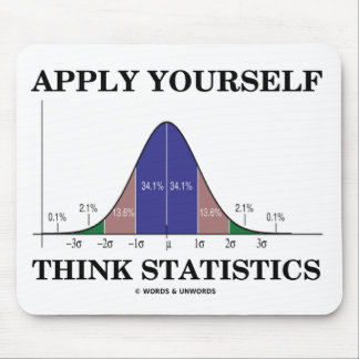 Apply Yourself Think Statistics (Bell Curve) Mouse Pads