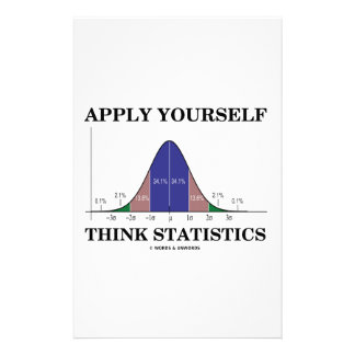 Apply Yourself Think Statistics (Bell Curve) Stationery