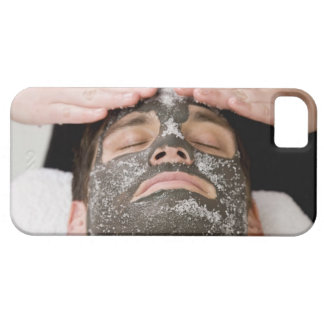 Applying skincare face mask with salt iPhone SE/5/5s case