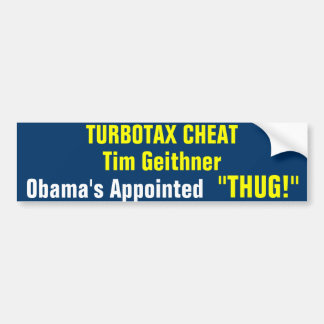 Appointed Thug Bumper Sticker