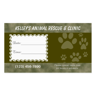 Appointment Animal Services U-pick Color Business Card