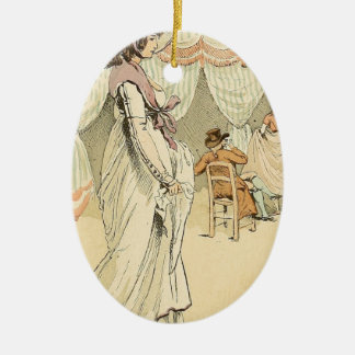 Appointment at the cafe de Tuileries 1898 Ceramic Ornament