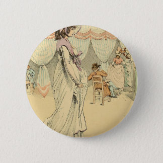 Appointment at the cafe de Tuileries 1898 Pinback Button