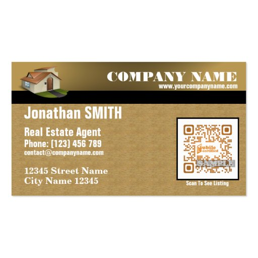 Appointment business card for real estate agent