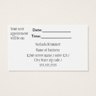 Appointment Business cards