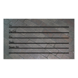 Appointment Card brick floor Business Card Templates