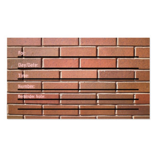 Appointment Card brick wall Business Cards