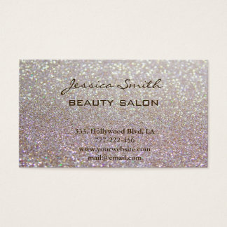 Appointment card elegant chic faux glittery