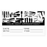 Appointment Card Hair Salon Barber Shop Stylist Business Cards