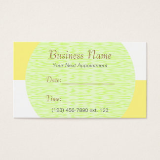 Appointment Card I/ U-pick Color White Checkered