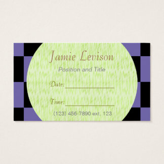 Appointment Card II/ U-pick Color Black Checkered